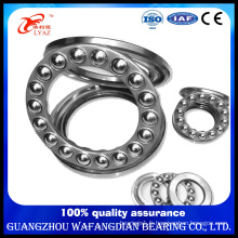 China Supplier Steel Cage Axial Load Flat Thrust Ball Bearing 51217 20X42X12