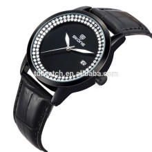 9241 Japan movt cheap leather band watches