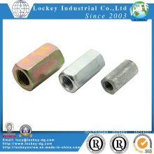 Jaune Zinc Hex Coupling Nut Long Nut