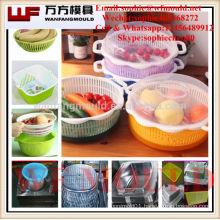 injection molding companies manufacturing plastic injection fruit box mould/OEM Custom design plastic fruit box mold