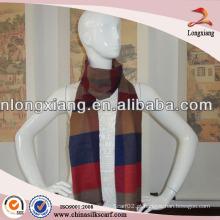 2014 Plaid 100% Silk Twill Silk Scarf