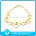 TKB-JB0008 Wunderschöne stilvolle Bling Schmuck hohlen Sterne goldenen 316L Edelstahl Armbänder für Frauen