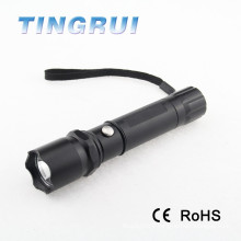 2015 fashion zoom push button switch aluminium flashlight harga senter police