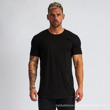 Camiseta musculosa de manga corta para hombre