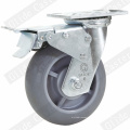 Roulette pivotante TPR robuste (gris) (G4307D)