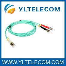 LC ao cabo multimodo do remendo da fibra óptica do ST 10G OM3 para comunicações de rede