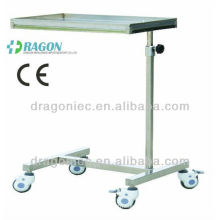 DW-HE014 Stainless steel over bed table hospital table for sale