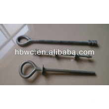 galvanized eyebolt, electrical power line hardware