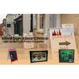Wood Framed Advertising Chalkboard Picture Frame Sandwich Board Signs