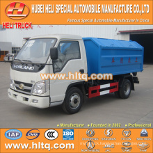 4X2 FOTON FORLAND 4.5cbm 98hp hook lift garbage truck with high quality best selling in China