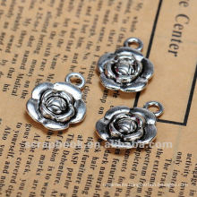 Wholesale craft metal flower/ pendant metal phone charm tag