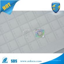 Etiquetas de holograma vazio com favo de mel com logotipo personalizado e aviso de garantia