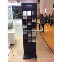 Stone Exhibition Display Units Custom Trade Fair Fixtures Freestanding Metal Ceramic Tile Show Stand