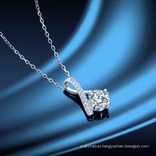 Women′ S Birthday Gift Paris Tower Moissan Diamond Pendant S925 Sterling Silver 1 Carat Diamond Fashion Jewellery Necklace