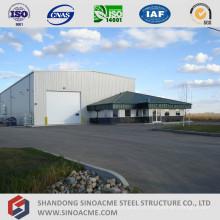 Entrepôt à cadre métallique préfabriqué avec immeuble de bureaux