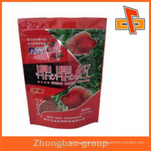Factory price plastic ziplock stand up fish food bag for pet food packaging with custom design