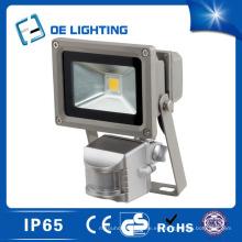 Certificado calidad 10W luz de inundación del LED con Sensor