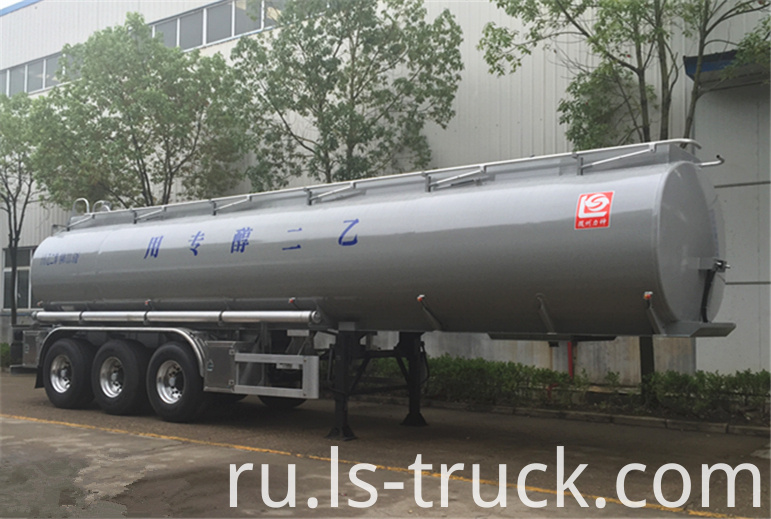 corrosive liquid tank semi trailer