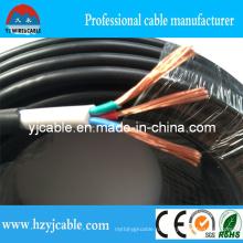Стандартный медный проводник Изоляция из ПВХ ПВХ оболочка Двойные сердечники 3 ядра 4 ядра 0,5 мм2 0,75 мм2 1,0 мм2, двойная оболочка, 2 ящика 3 ядра 4 ядра, электрический кабель