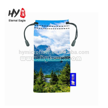 Hot selling eyeglass pouch, microfiber drawstring camera bag, neoprene eyeglasses/sunglasses pouch/ bag/cases for sublimation