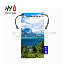 Venda quente bolsa de óculos, saco de microfibra com cordão da câmera, óculos de neoprene / óculos de sol bolsa / saco / casos para a sublimação