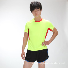 OEM/ODM for Sports Clothes Summer round neck fluorescent green short sportwear supply to India Suppliers