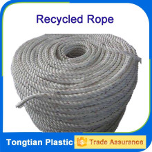 Cuerda retorcida reciclada de 3 hilos de los filamentos