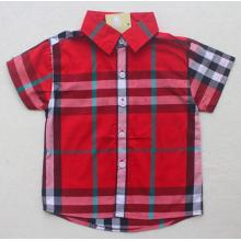 Fashion Boy Children Check Shirt in Children Clothes Garment Sq-17114