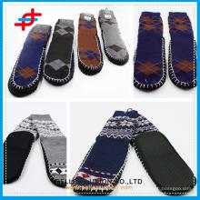 Männer Super Dick Indoor Warme Argyle Anti-Rutsch Streifen Schuh Socken