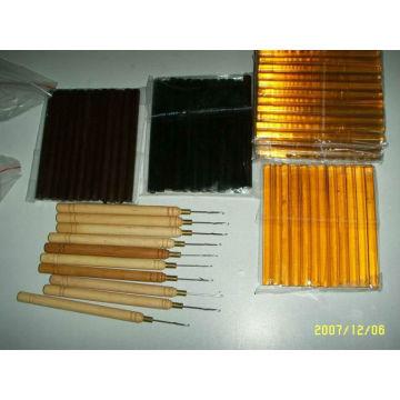glue sticks, keratin in hair extension tools for salon