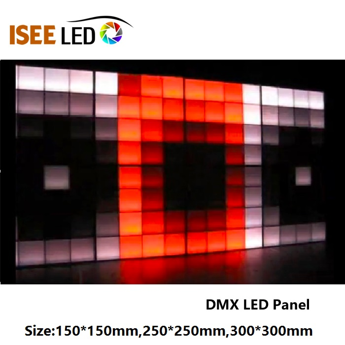 RGB SMD5050 DMX512 LED 패널 램프