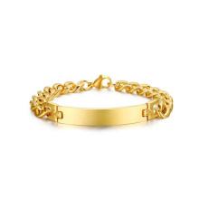 Las pulseras plateadas oro al por mayor diseñan la joyería, joyería simple de la pulsera del oro