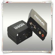 VGA + R / L TO HDMI Konverter (ermöglicht ein VGA + R / L Gerät leicht in einen HDMI1.1 Monitor oder Projektor umgewandelt werden)