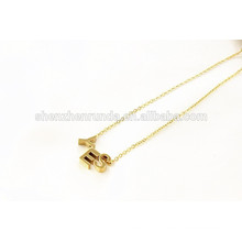 China wholesale 2015 fashion letter YES of stainless steel in necklace