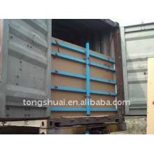 5 couches flexitank placé dans le conteneur pour le transport liquide