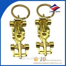Gold Plating klassische Spielzeug Auto Platte Schlüsselanhänger