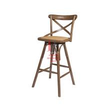Cadeira de bar alto em madeira