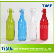 Colorful Glass Bottle with Lid