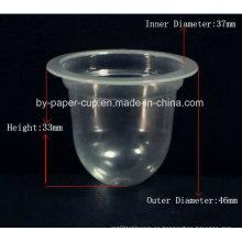 Toma de cristal de encargo cristal transparente jalea copas