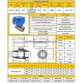 Cwx-60p Dn32 DC12V/24V Stainless Steel 316 304 Motorized Ball Control Valve