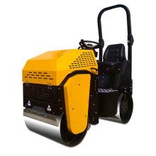 Rodillo compactador de doble tambor de gasolina de alta calidad