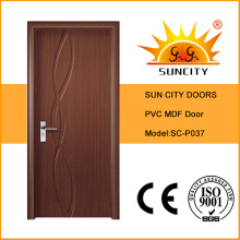 Morden Interior PVC Bathroom Door
