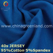 Tela tejida Spandex del jersey del algodón 40s para la ropa de ropa (GLLML220)