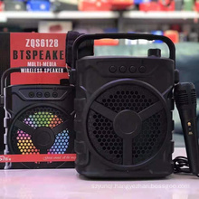 ZQS6128 Rechargeable Wireless Microphone Karaoke Bt Speaker Amplified Sound Box With Usb