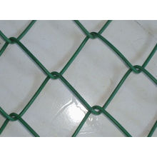 Green color PVC coated chain link fence mesh