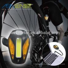 Éclairage LED blanc-Éclairage LED rouge -Réclairé / blanc Clignotant-2 Éclairage LED jaune-Jaune clignotant-OFF Feu arrière du vélo