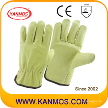 Industrial Safety Pig Grain Driver Leather Work Gloves (22201)