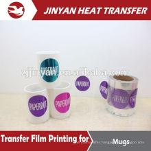 colorful film heat transfer printing on mugs
