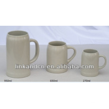 Haonai 2014 large ceramic beer mugs,multi-sizes beer mug