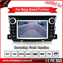GHz Car DVD GPS Navigation Android 5.1/1.6 for Smart Fortwo Car Audio with WiFi Connection